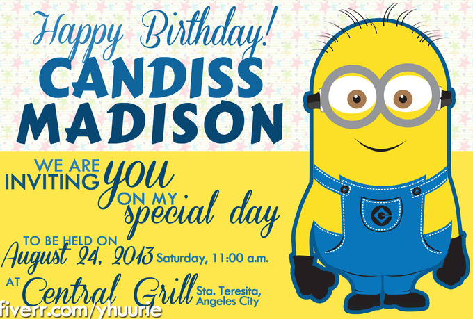 Minions Birthday Invitation Template - Birthday invitation template minions