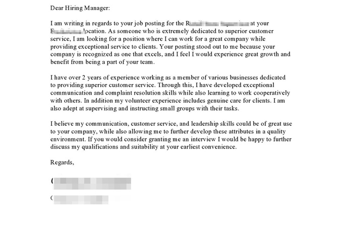 How to write a bio cover letter