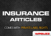 send you 2400 INSURANCE articles with private label rights included