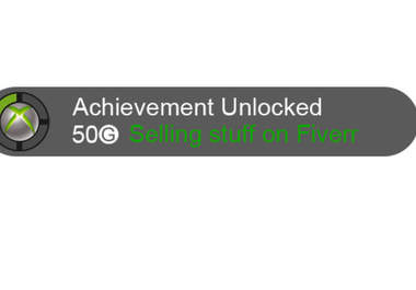 make a custom xbox 360 achievement logo fiverr