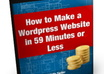 show you step by step how to make a Wordpress website in 59 minutes or less