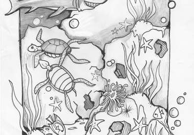 ocean scenes coloring pages - photo#37