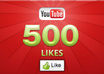 give 500 REAL youtube likes to your youtube video, all likes deliver with 7 days