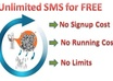 show you how to send unlimited SMS without paying a penny and make unlimited sales