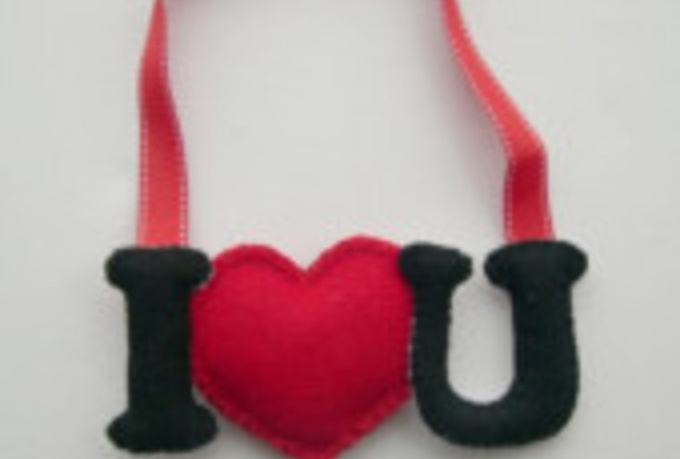 send this beautiful felt decoration to any US address