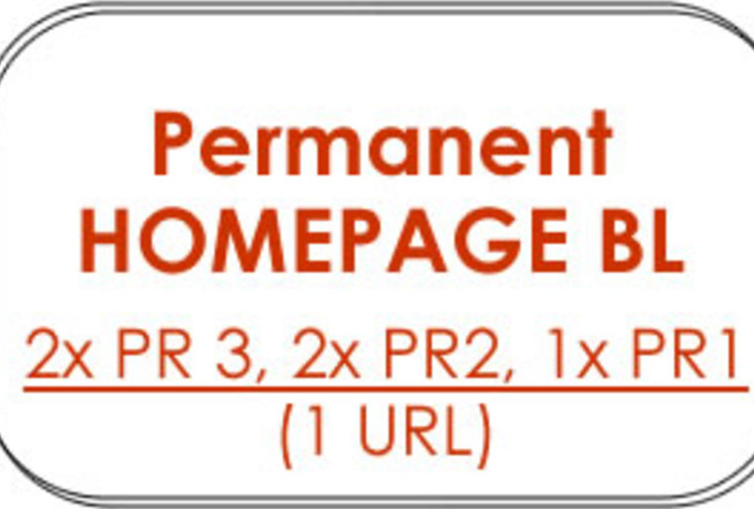give you 5 X Permanent HOMEPAGE Backlinks from Pagerank 2x PR3, 2x PR2, 1x PR1 blogs