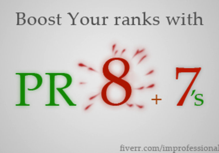 give you 3 PR8 and 2 PR7 dofollow backlinks small1