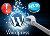 fix customize and configure Wordpress