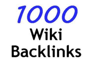 I will create 1000 contextual backlinks from Wiki Sites for $5 1000_wiki_links
