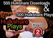 hook you up with 1500+ Hulkshare Plays plus 1500+ Hulkshare Downloads