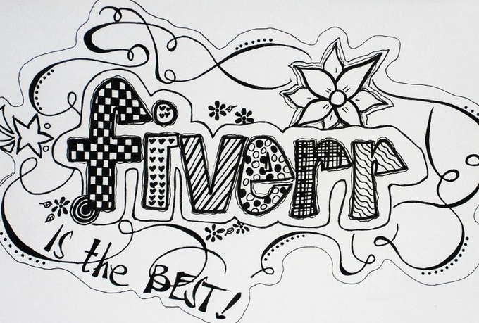 make an artistic doodle for any words you want