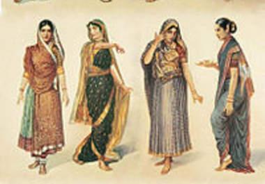 Indian Sari Cartoon