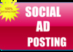 post your ads on social sites